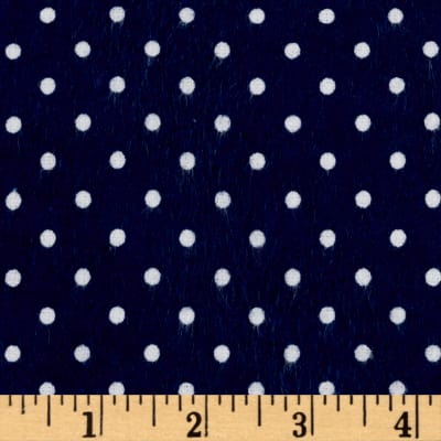 Riley Blake Flannel Basics Swiss Dot Navy