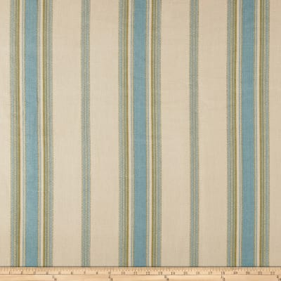 Laura & Kiran Canyon Stripe Canvas Natural/Green/Blue