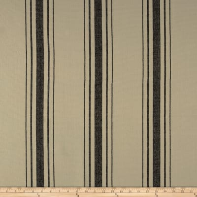 Laura & Kiran Harbor Stripe Canvas Black on Flax