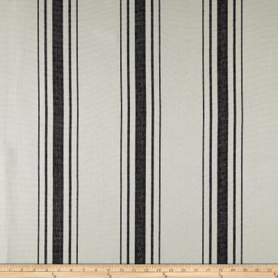 Laura & Kiran Harbor Stripe Canvas Black on White