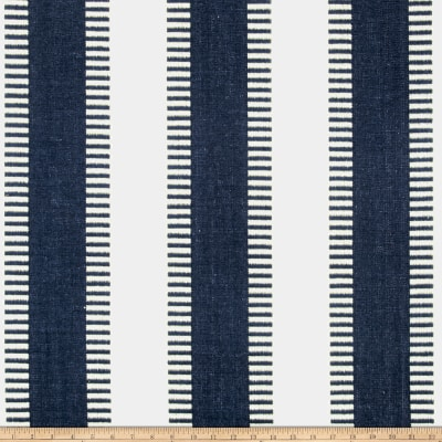 Laura & Kiran New Ladder Stripe Canvas Navy/White