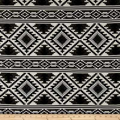 Laura & Kiran Saddle Blanket Doubleweave Jacquard Black/White