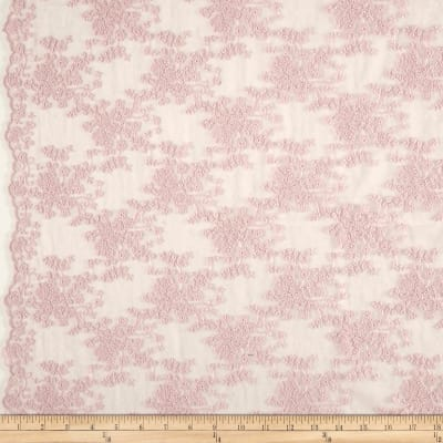 Telio Coralie Embroidered Mesh Lace Soft Pink
