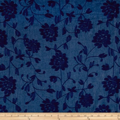 Telio Embroidered Chambray Royal