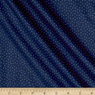 Blueberry Buckle Tiny Polka Dots Dark Denim