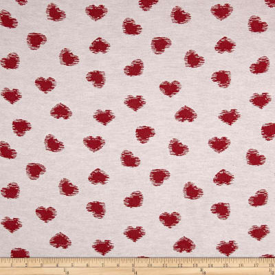 Novelty Cotton-Blend Jacquard Red Heart