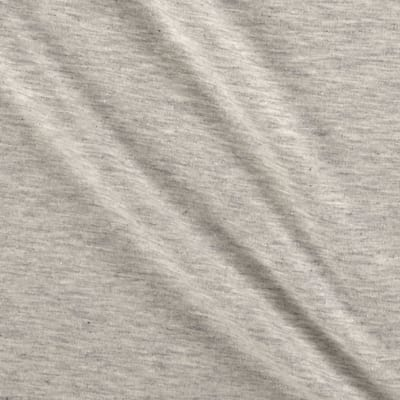Stof Avalana Melange Jersey Knit Solid Light Grey