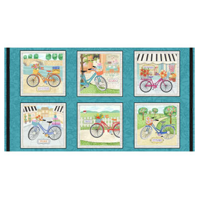 "Enjoy The Journey 24"" Panel Bike Blocks Panel Multi"