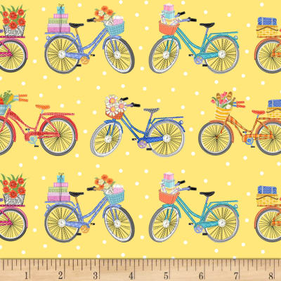 Enjoy The Journey Bicycles Yellow