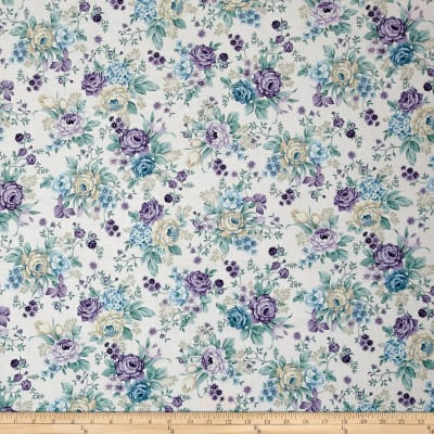 Twilight Garden Vintage Allover Floral Linen