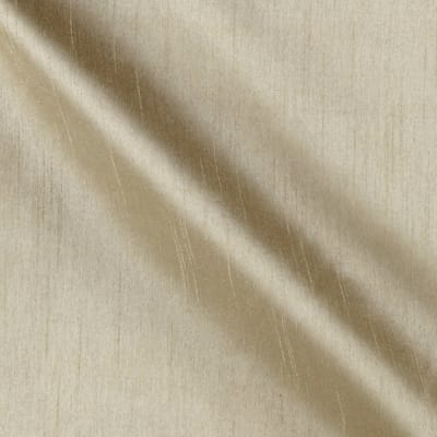 Worldly Faux Dupioni Silk Beige