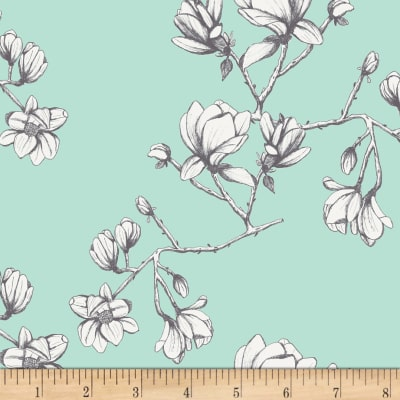Art Gallery Wild Bloom Magnolia Study Fresh Mint