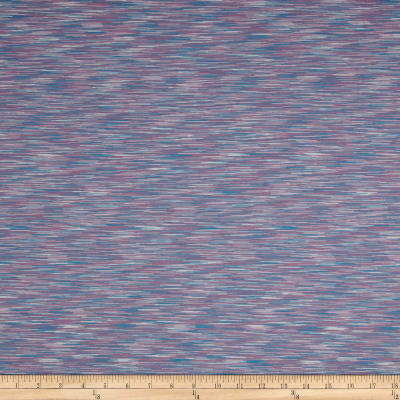 Pine Crest Fabrics Strata Athletic Knit Pastel Mauve/Blue/White