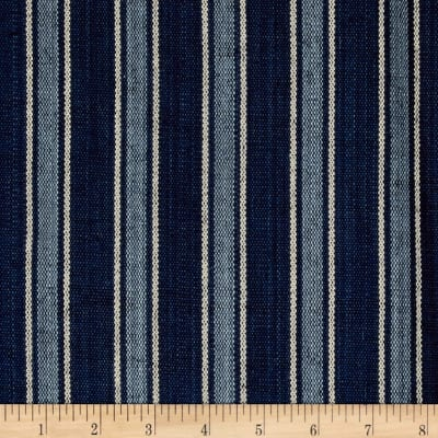 Ralph Lauren Home LCF65987F Bungalow Stripe Canvas Indigo
