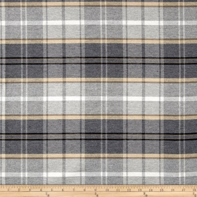 Off to the Races Foxtrot Plaid Twill Quarry