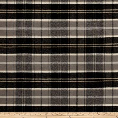 Off to the Races Yarn Dyed Plaid Twill Charcoal