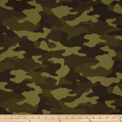 Kaufman Sevenberry Flannel Camouflage Camouflage