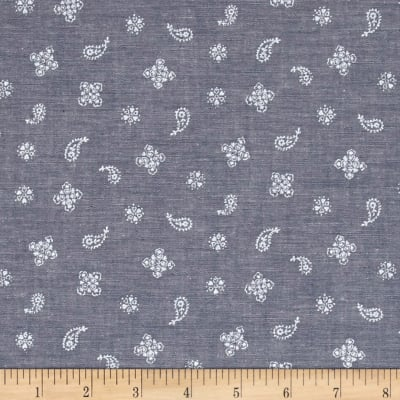 Kaufman Sevenberry Classiques Chambray Paisley Royal