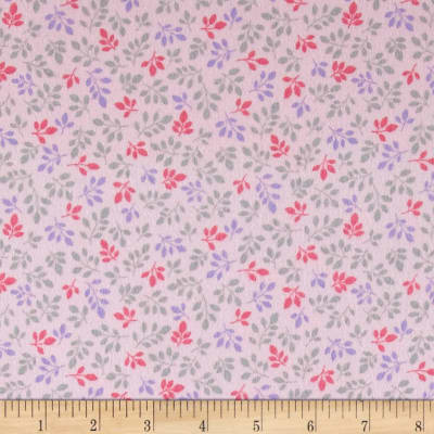 Kaufman Monkey Hangout Flannel Branches Pink