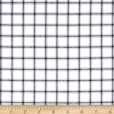 Kaufman Brooklyn Plaid Flannel White