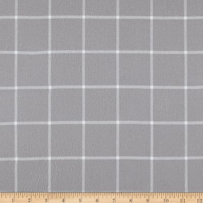 Kaufman Brooklyn Plaid Flannel Silver