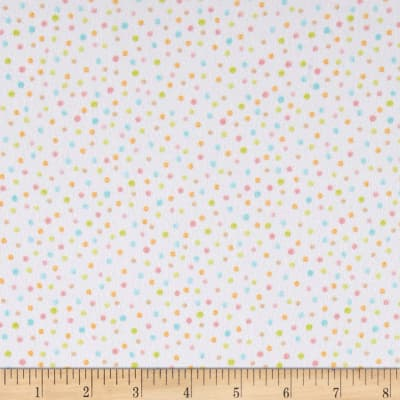 Kaufman Cuddly Kittens Flannel Dot Ivory