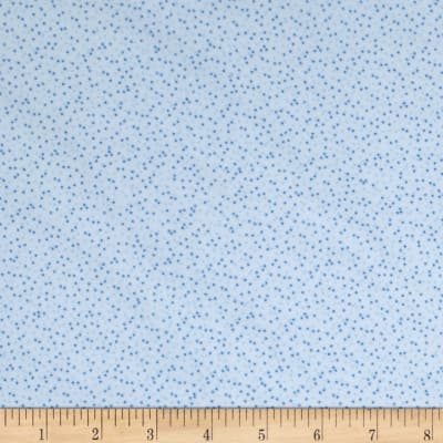 Kaufman Baby Bunting Dots Flannel Blue