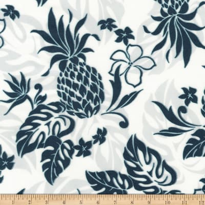 Kaufman Sevenberry Island Paradise Pineapples and Flowers White