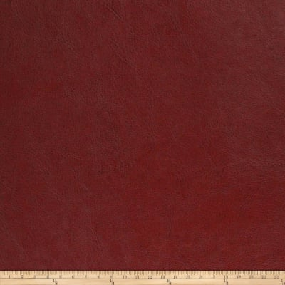 Richloom Tough Faux Leather Comstock Dark Red