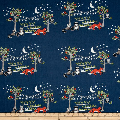 Monaluna Organic Poplin Cottage Garden Night Garden
