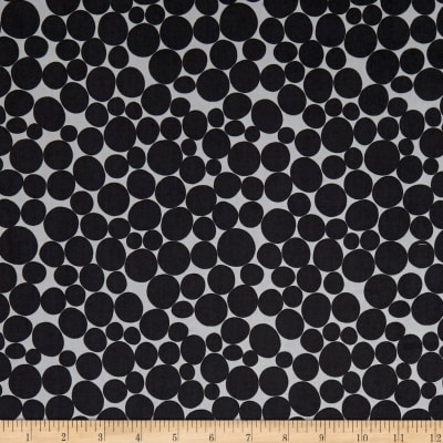 Kaufman Psychedelia Leaves, Circles, Dots Taupe/Onyx