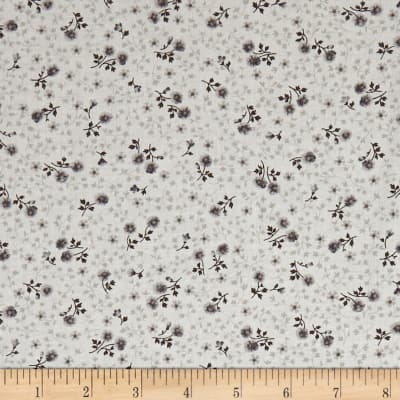 Kaufman Wexford Garden Cats, Flowers Aqua/Grey
