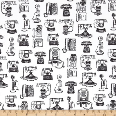 Kaufman Objects Digital Champagne Dots, Telephones White