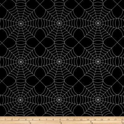 Pine Crest Fabrics Silver Webs on Olympus Athletic Double Knit Black/Silver