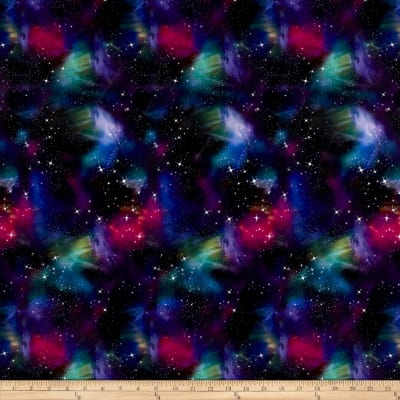 Pine Crest Fabrics Deep Space on Olympus Athletic Double Knit Multi