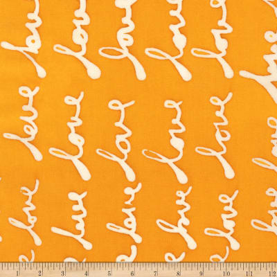 Kaufman Mark To Make Love Marigold Batik