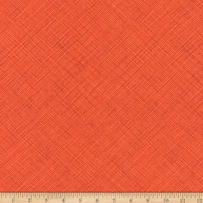 Kaufman Architextures Crosshatch Orangeade