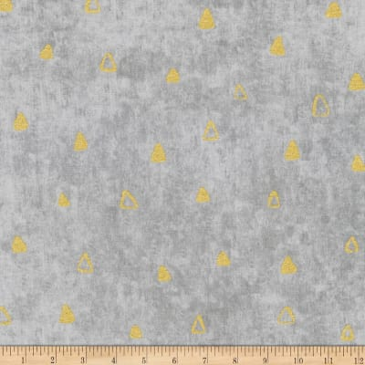 Kaufman Gustav Klimt Triangles Grey Metallic