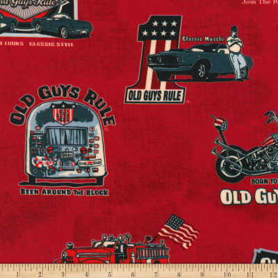 Kaufman Old Guys Rule Collage Red