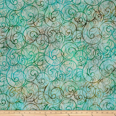 Kaufman Artisan Batiks Regal 3 Swirls Meadow