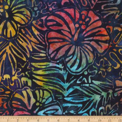 Kaufman Totally Tropical Hibiscus Multi