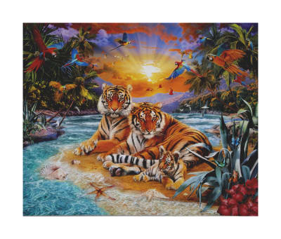 """Kaufman Picture This Digital 36"""" Panel Tigers Panel Wild"""