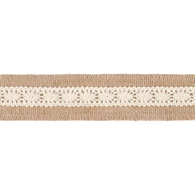 "2"" Becky Jute Lace Trim Natural"