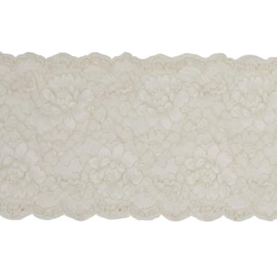 "7"" April Chantilly Stretch Lace Trim Ivory"
