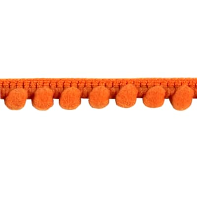 "3/8"" Baby Pom Fringe Trim Orange"