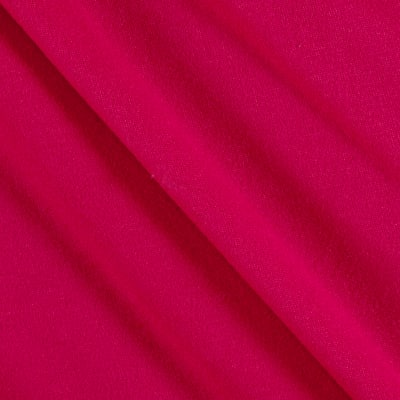 Fabric Merchants Double Brushed Solid Jersey Knit Hot Pink