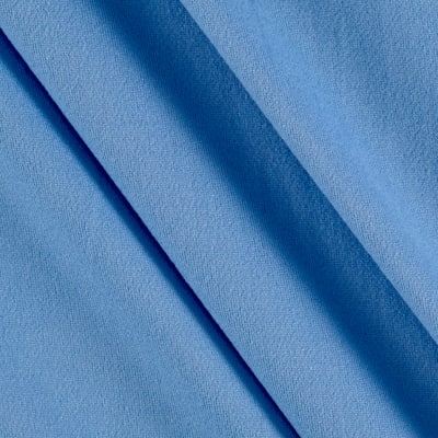 Fabric Merchants Double Brushed Solid Jersey Knit Blue Light