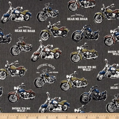 Cosmo Motorcycles Cotton Linen Blend Grey
