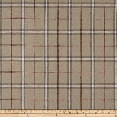 Stof Fabrics Denmark Shabby Chic Linen Blend Large Plaid Red