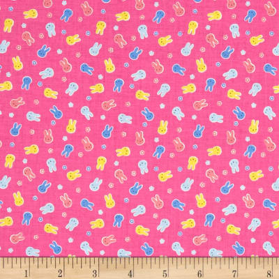 Lecien Minny Muu Bunnies Hot Pink